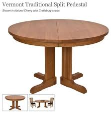 the company i like lyndon furniture has either a single pedestal or a split pedestal 42 round but only allows one 18 extension