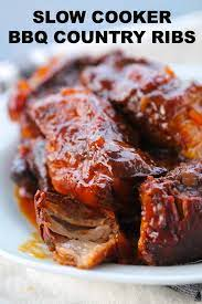 slow cooker bbq country style ribs recipe