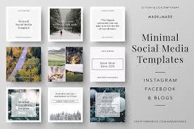 Social Media Design Templates Minimal Social Media Templates