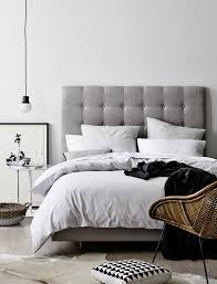 dreaming of upholstered bedheads  bedrooms gray and interiors