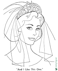Free printable coloring pages for children that you can print out and color. Wedding Bride Coloring Pages