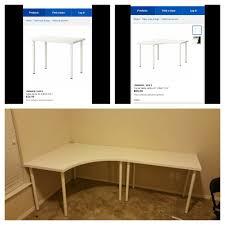 used ikea office furniture. Plain Furniture Ikea Linnmon Corner Desk  Used Office Furniture Ebay White On