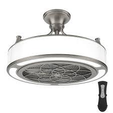 anderson 22 in indoor outdoor ceiling fan light in brushed nickel