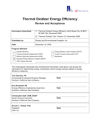 Thermal Oxidizer Design Calculations Thermal Oxidizer Energy Efficiency