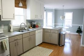 Kitchen Walls Decorating Blue Kitchen Walls With Brown Cabinets Alkamediacom