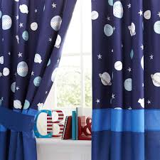 Space Themed Bedroom Kids Space Mission Blackout Pencil Pleat Curtains Dunelm Finn