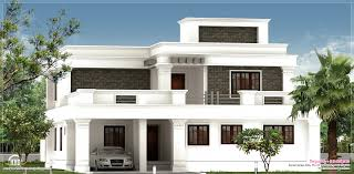 Flat Roof Homes Designs Flat Roof Villa Exterior In  Sqfeet - Home interior design kerala style