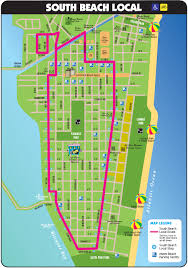 south beach tourist map  miami beach florida • mappery
