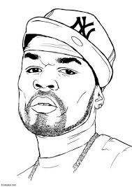 Free, printable coloring book pages, connect the dot pages and color by numbers pages for kids. Coloring Page 50 Cent Img 15399 People Coloring Pages Rapper Art Hip Hop Artwork