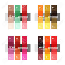 Vector Color Stripes Infographics Templates With Sample Option
