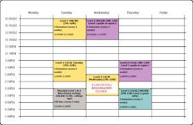 2019 20 Class Schedule Writing To Learn