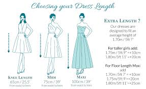 Skirt Length Chart Sizing In One Clothing