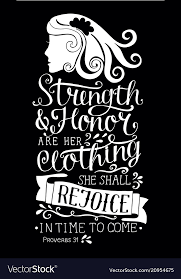 Bible Quotes On Strength Adorable Hand Lettering With Bible Verse Strength And Honor