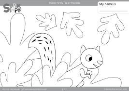 Treetop Family Coloring Pages Episode 14 Super Simple