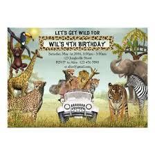 Safari Party Invitations Jungle Animals Safari Birthday Party Invitations Candied Clouds