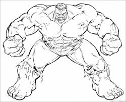 Drawn hulk coloring page - Pencil and in color drawn hulk coloring ...