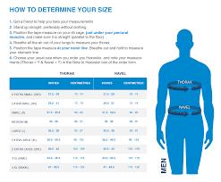 Mens Extra Small Size Chart Hexoskin Size Charts Carre Technologies Inc Hexoskin