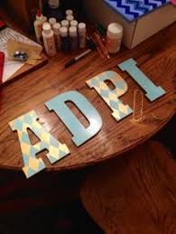 letters i painted for my future little adpi alphadeltapi