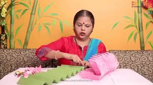 eco friendly ganpati decoration lotus asan youtube