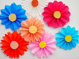accordion paper flowers diy candy