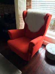 red strandmon wing chair ikea vintage for in los angeles ca offerup