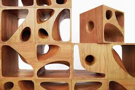 wood cubes furniture. Sculptural Wood Cubes Designed For Playful Cats_designrulz (1) Furniture
