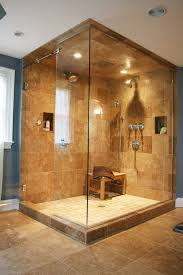 showers with tile walls. master-bathroom-with-travertine-flooring-and-baseboards-and- showers with tile walls