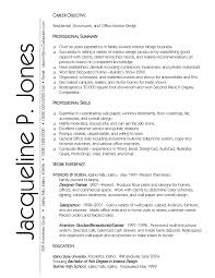 Resumes Objectives Resume Graphic Design Objective Fresh Interior Design Resumes 88