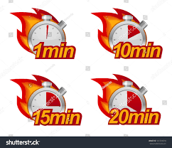 Minute Timers 1 Minute 10 Minutes 15 20 Stock Vector Royalty Free 141259618