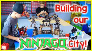 Building our LEGO NINJAGO CITY! Ninjago Collection! All Ninjago season 8  and 9 Sets! - YouTube