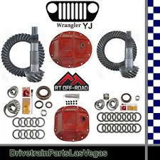 Details About Jeep Wrangler Yj Dana 35 30 Ring Pinion Re Gear Pkg Hd Covers Kits 4 11 Ratio