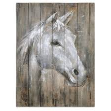 >shop uttermost grace feyock dreamhorse hand painted wood wall art   wood wall art uttermost grace feyock x27 dreamhorse x27 hand painted