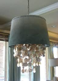 small drum lamp shades for chandeliers silver beaded mini shade