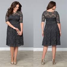 find cheap plus size clothing vintage lace plus size formal dresses dark gray mothers tea length