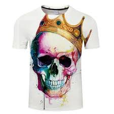 Skull Crown Summer Plus Size Women Men T Shirt 3d Print