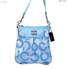 Coach Fashion Logo C Small Blue Multi Crossbody Bags