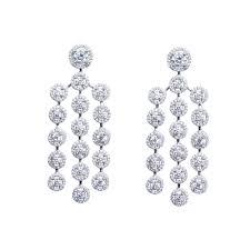 white cubic zirconia chandelier earring