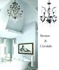 bathroom crystal chandelier lighting ideas remarkable small with chandeliers home master bathroom crystal chandelier