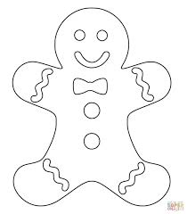 Small Picture Coloring Pages Gingerbread Man Templates Colouring Pages Free