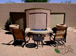 special fire pit gas fire pit or half fireplace with stone accents and fire brick