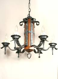 wood and iron chandelier vintage c wrought chandeliers