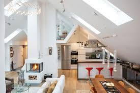 medium size of apartment inspiring loft living room and kitchen decorating ideas with white wall paint