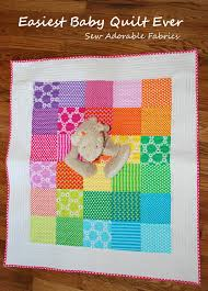Easy Baby Quilt Pattern for Beginners & Giveaway for the Baby ... & Easy Baby Quilt Pattern for Beginners & Giveaway for the Baby Quilt Kit Adamdwight.com