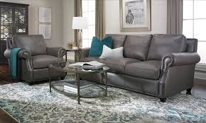 picture of rocky mountain leather prime top grain leather sofa
