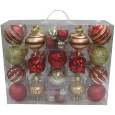Holiday Time Christmas Ornaments Traditional 60mm Shatterproof Christmas Ornaments Walmart