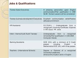 Good Qualifications For A Job Job Opportunities For Beginners_by_lakna Sewmi_observerjobs Team