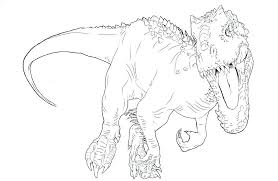 coloring page generator t rex color showy