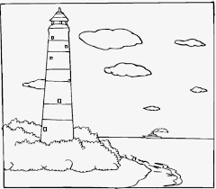 Small Picture Free Printable Lighthouse Coloring Pages For Kids School