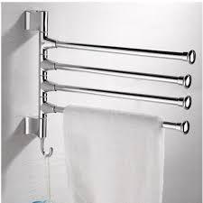 Wall Mounted Towel Rack PHOEWON Swivel Towel Rail Chrome Stainless