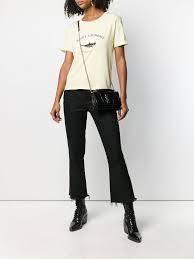 Saint Laurent <b>футболка с принтом птицы</b> - Купить в Интернет ...